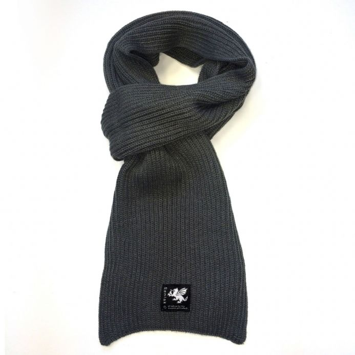 Senlak Grey Knitted Scarf